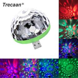 Мини светодиодный USB светодиодный диско-сценический свет портативный Семейный вечерние праздник магический шар красочный свет бар клуб