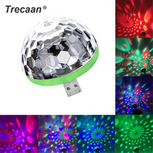 Mini USB LED Disco Stage Light Portable Family Party Magic Ball Colorful Bar Club Effect Lamp for Mobile Phone