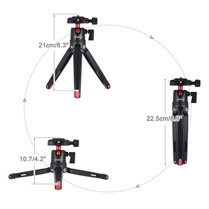 Image 5 - Andoer Mini Handheld Travel Tabletop Tripod Stand with Ball Head for iPhone for Samsung Huawei Honor 9  Smartphone for GoPro 5