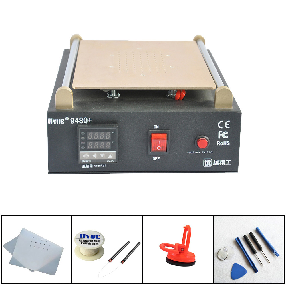 Max 11 Inches Built-in Vacuum Pump Mobile Phone LCD Screen Separator Machine Glass Touch Screen Refurbished Uyue 948Q+