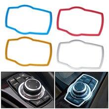 Beler nova liga de alumínio interior do carro multimídia botão capa guarnição apto para bmw 1 / 3 / 4 / 5 / 7 series x1 x3 x4 x5 x6 2013 2014