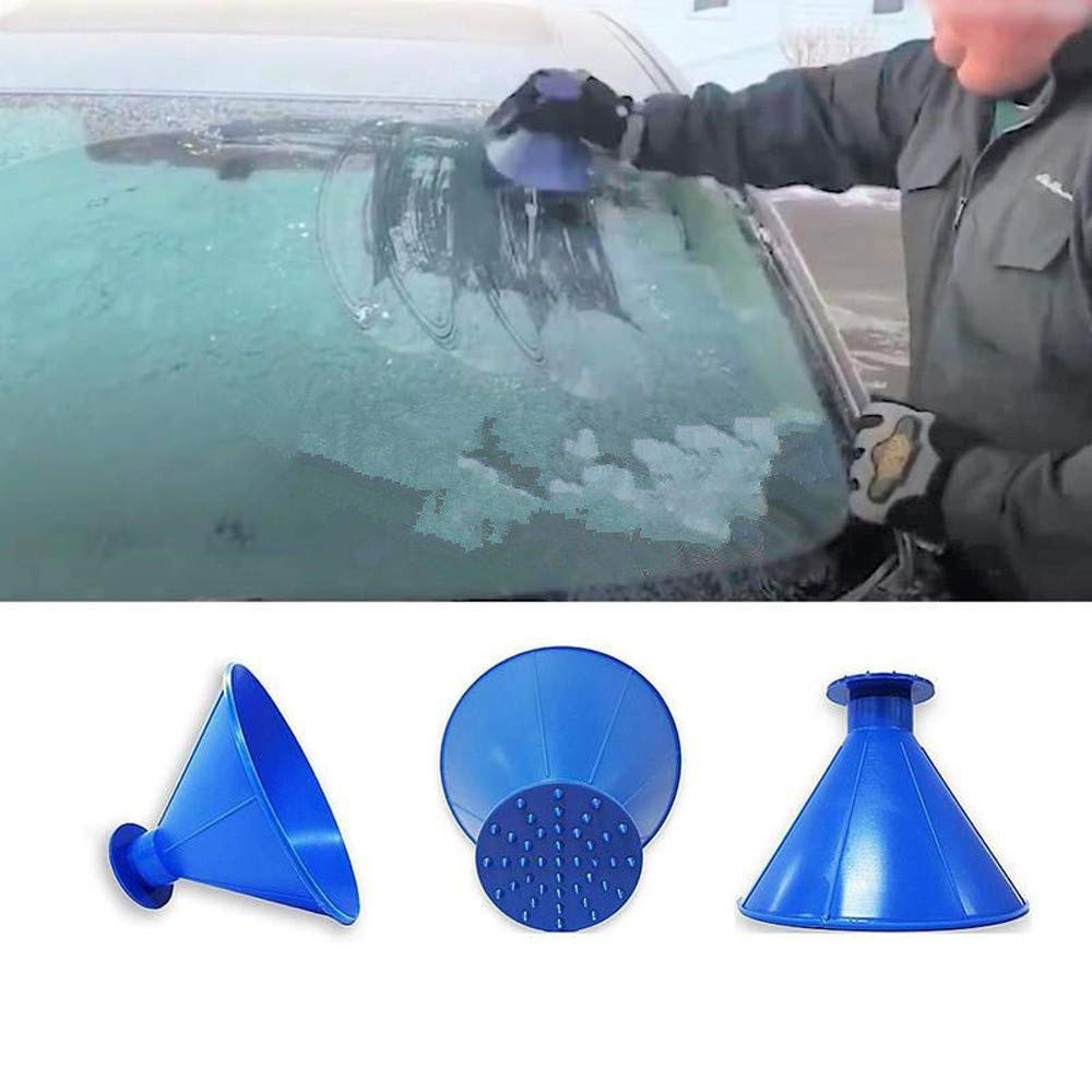 United Outdoor Ice Shovel Cone Shaped Funnel Snow Remover Clean Tool Scrape Ice Scraper Useful Car Windshield Snow Removal Magic Cleaning Tools