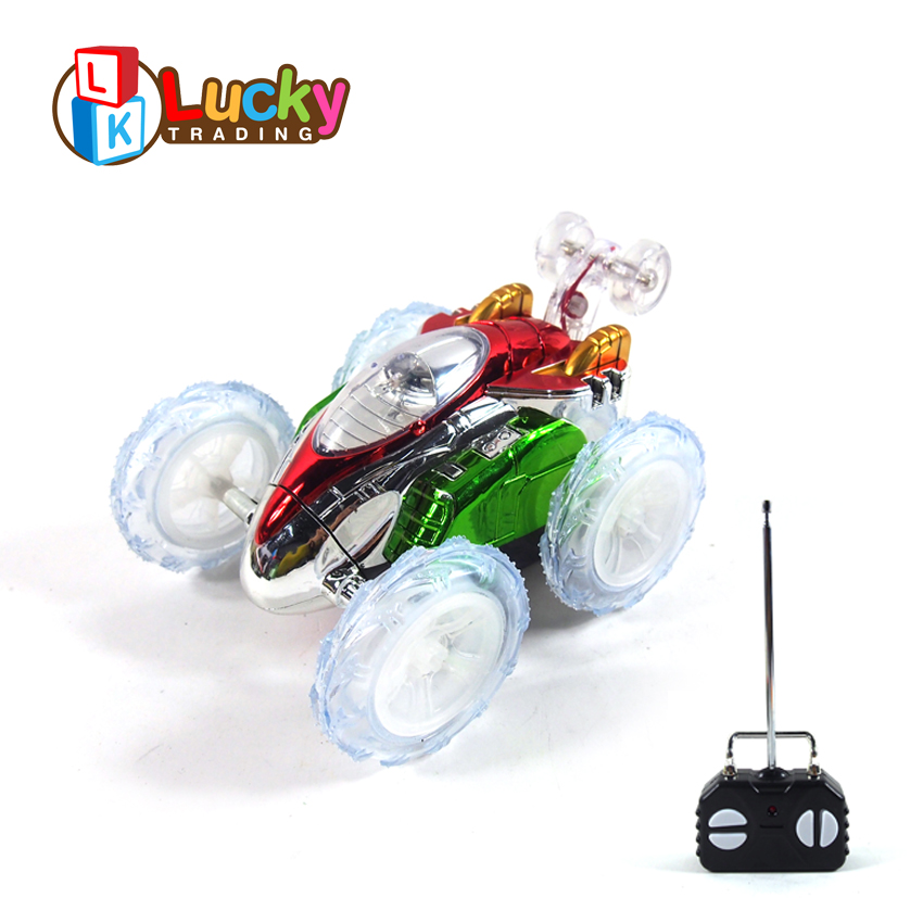 Fashion Design Crazy 4 Channels 360 Degrees Dumpers rc Stunt Car with Power Wheels Remote Control Car carro de controle remoto in RC Cars from Toys Hobbies