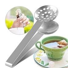 Tea Bag Squeezer Stainless Steel Tongs Holder Long-Handled Tea Bag Spoon Clips Mini Sugar Silver Tea Infuser Strainers Filters K dj bag djb k mini plus