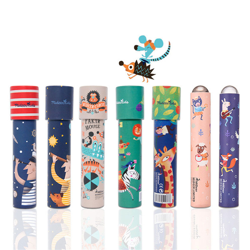 Cartoon Animals 3D Kaleidoscope Paper Card Prism Educational Colorful World Toys Science Discovery Toys Kids Gifts 1pc