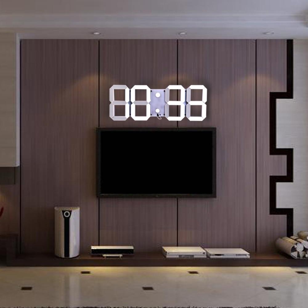 Remote Control Digital LED Wall Clock Alarm Stopwatch Thermometer Countdown Calendar Home Decor Multifunction Wall Clocks