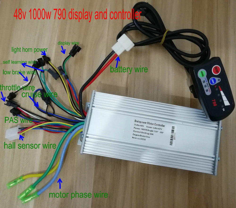 36v48v800w1000w Controllerdisplay Group Control Panel 790 With Electrical Wiring A Light Switch Battery Level Indicator Electric Bike Scooter Par In Bicycle