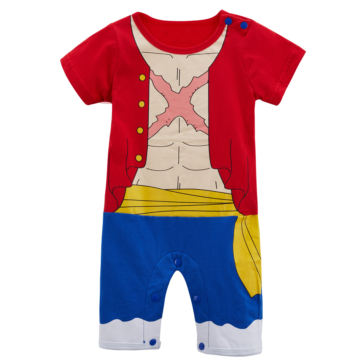 Baby Boys Luffy Roronoa Zoro   Romper   Infant Halloween Fancy Dress Party Jumpsuit Newborn Anime Cosplay Cartoon Playsuit Costume