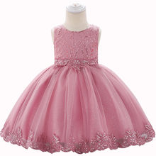 Newborn Baby Girl Embroidery Sequins Tulle Gown Princess Dress Infant Wedding Party Formal Dresses Toddler Clothes 0-24 M BW335(China)