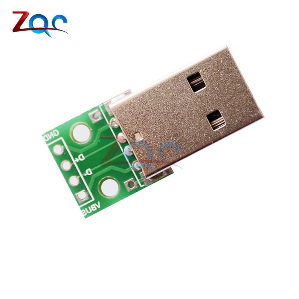 5pcs USB to DIP Adapter Converter 4 pin for 2.54mm PCB Board Power Supply DIY wg2usb wiegand to usb converter board grass green