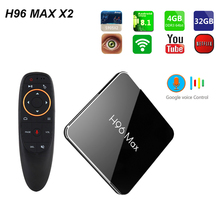 Новые H96 MAX X2 Amlogic S905X2 4 ядра Android 8,1 Smart ТВ BOX 4 Гб Оперативная память 32 и 64 Гб Встроенная память LPDDR4 4 K HD H.265 Media Player