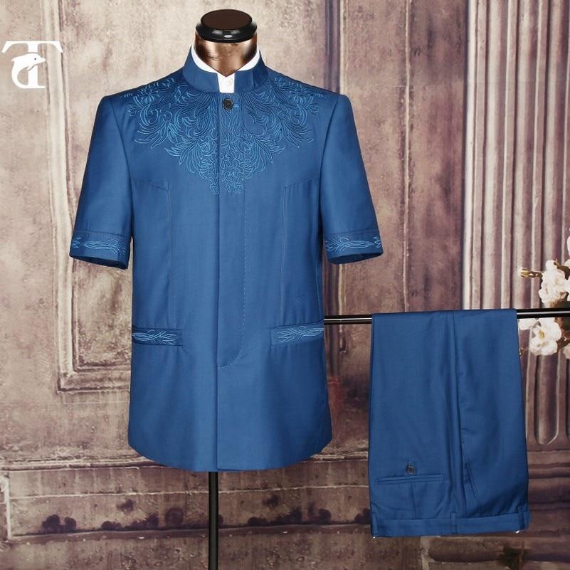 2016 été manches courtes blazer veste en gros vêtements blazer - Vêtements pour hommes - Photo 3