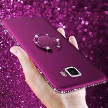 Ultra Thin Matte Rhinestone Case For Samsung Galaxy S8 S9 Plus S7 S6 edge Note 8 9 S10 A3 A5 A7 A8 A6 J5 J7 Silicone Cover