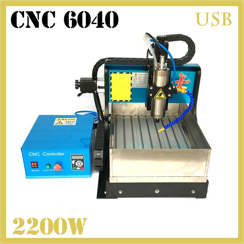JFT cnc6040Z-A  Best Quality CNC Laser Engraving Machine with Water Tank 2200W Spindle Motor 3 Axis CNC Router with USB Port jft high quality cnc wood router with water tank 4 axis 800w water cooling woodworking machine with parallel port 6040