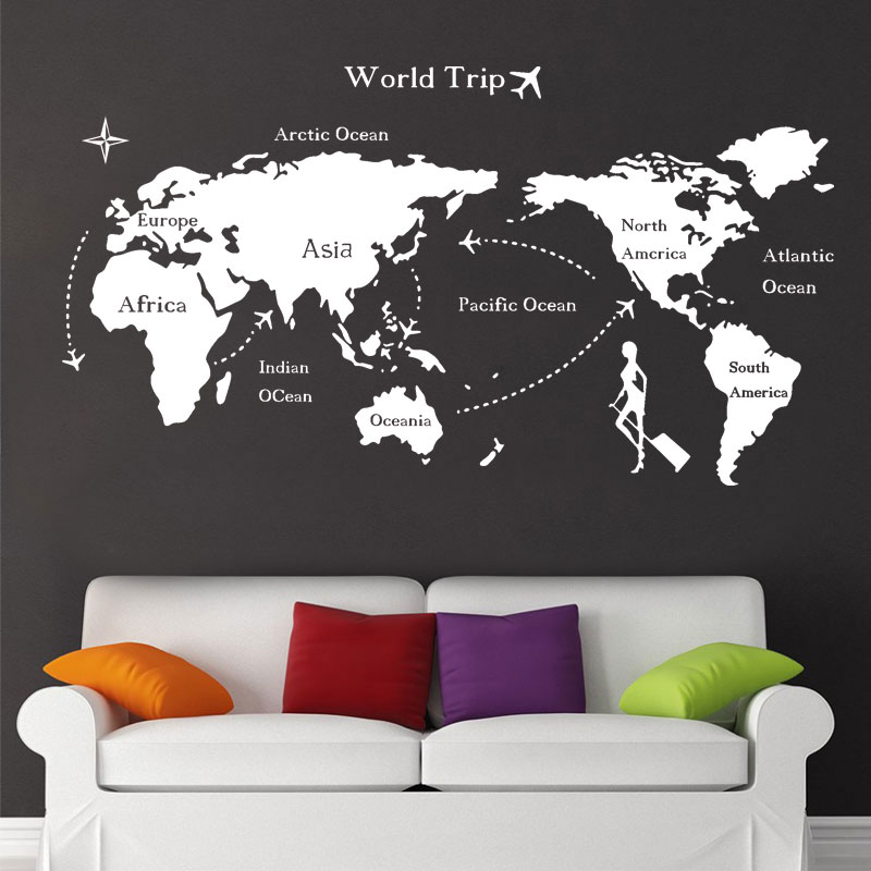 Buy big size home decor world map wall sticker vinyl and get free buy big size home decor world map wall sticker vinyl and get free shipping on aliexpress gumiabroncs Image collections