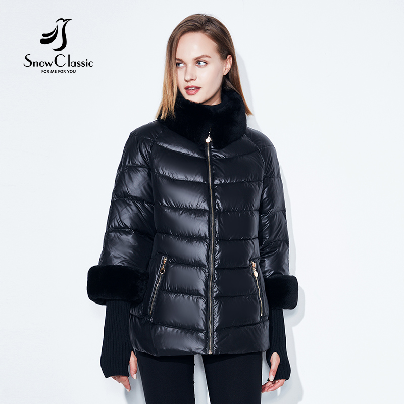 2020 Women's Coat Warm Winter Jacket Real Rabbit Fur Collar / Sleeve Removable Windbreaker Plus Fat Jacket SnowClassic 4