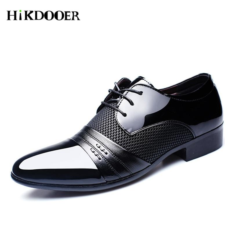 Enthusiastic 2018 New Mens Dress Leather Shoes Fashion Men Wedding Dress Shoes Comfortable Breathable Mesh Mens Banquet Leather Shoes Men's Shoes Shoes