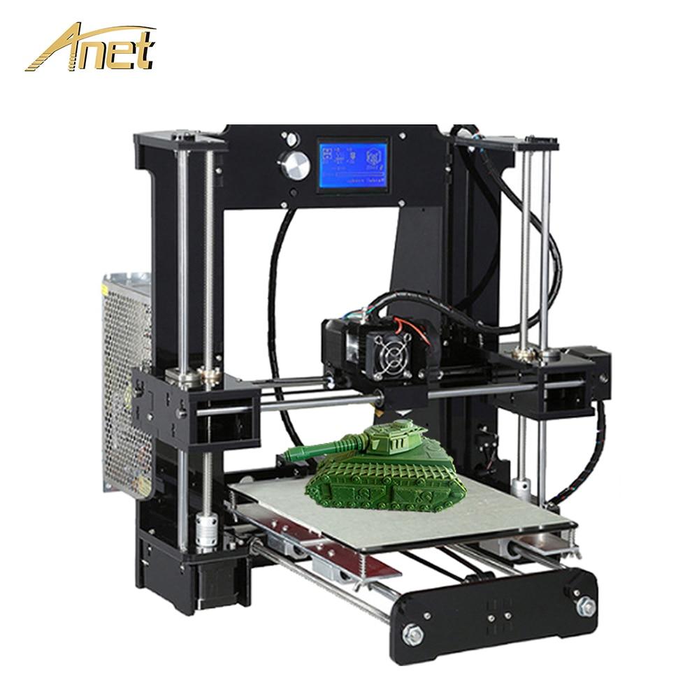 Anet A8 A6 Normale Auto Niveau A8 Bureau 3D Imprimante Kit Facile Assembler Reprap Prusa I3 3D Imprimante DIY Kit avec 10 m PLA Filament