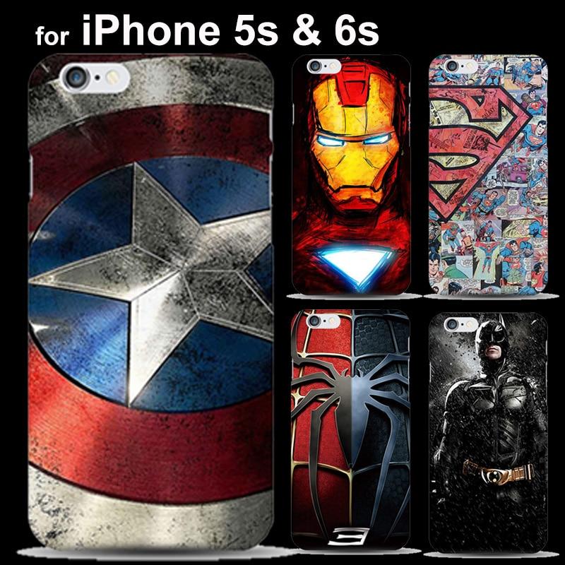 <font><b>Marvel</b></font> Comics <font><b>Superhero</b></font> Super iRon man Batman Painted <font><b>Case</b></font> for Cover <font><b>iPhone</b></font> 5 5s 6 6S fundas <font><b>Spiderman</b></font> S <font><b>logo</b></font>