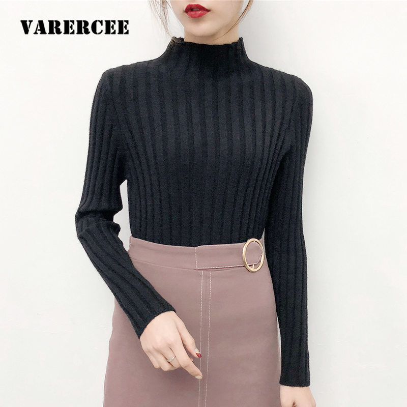 VARERCEE Turtleneck And Pullover Sweater women 2018 Winter Hot Keep Warm Sweaters female ...