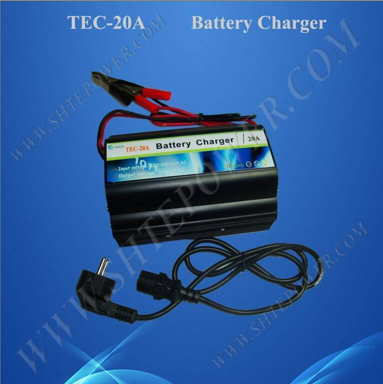 Great quality ac to dc 12v 20a deep cycle battery charger