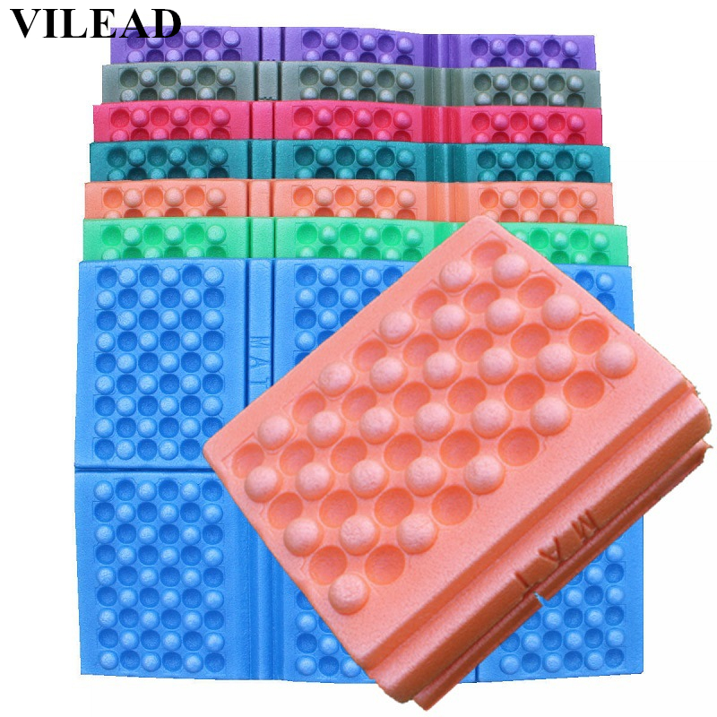 VILEAD 7 Colors Outdoor 6 Times Folding XPE Waterproof Camping Mat Foldable Sitting Mat Beach Pad Picnic Damp Proof Cushion Foam