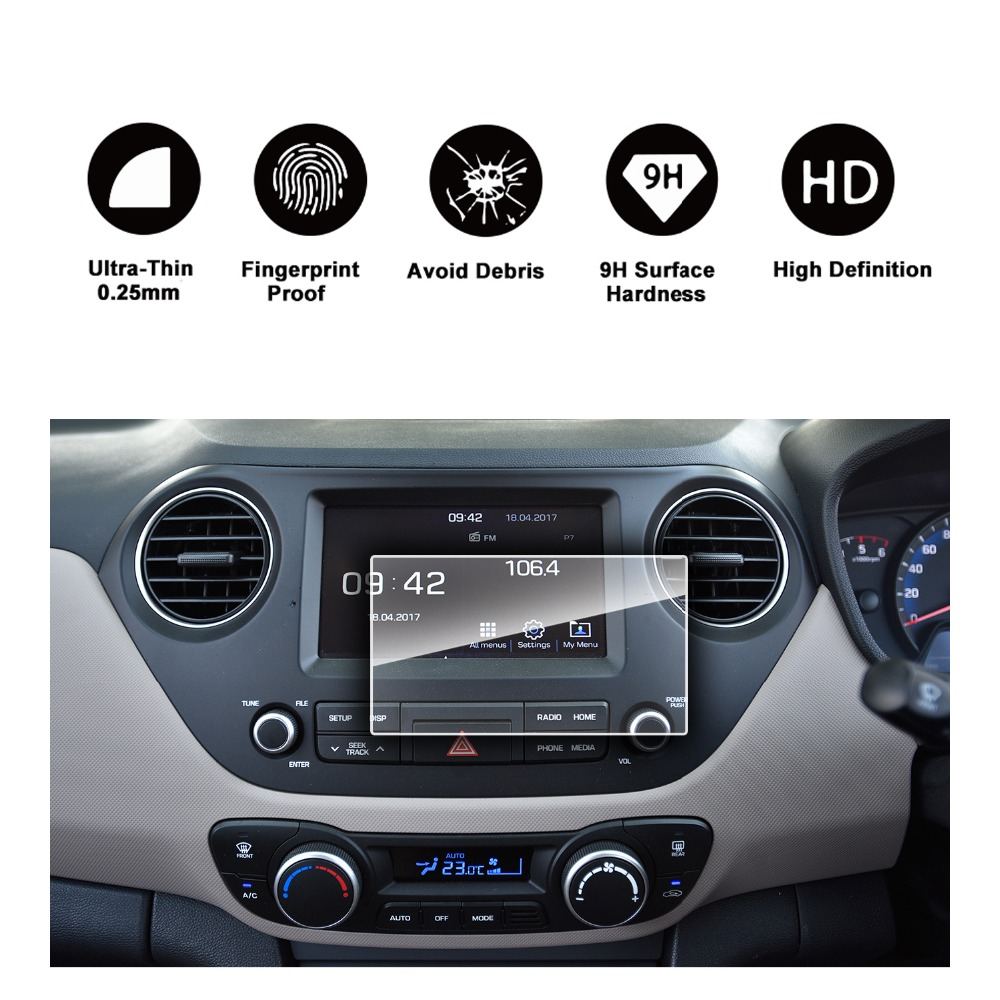 Us 13 99 Ruiya Car Navigation Screen Protective Film For Xcent Avn System 7inch Gps Screen 9h Tempered Glass Screen Protector Special Car In Screen