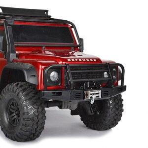 Image 5 - 1/10 RC Рок Гусеничный металлический передний бампер с светильник для осевого SCX10 90046 90047 Traxxas TRX 4 TRX4 Defender Bronco