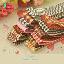 Красочные британский стиль плед кружева ленты сделай сам, поделки ручной работы bow-knot Аксессуары материал ленты ширина 25 мм S0086N