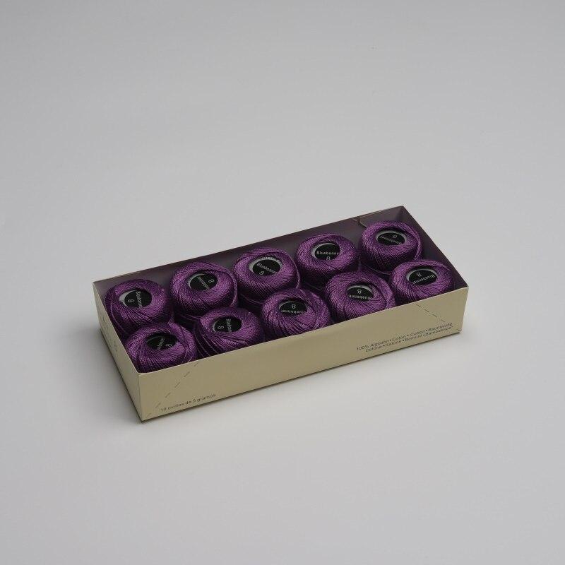 Размер 8 жемчужная хлопковая нить для вышивки крестиком 43 ярдов(5 грамм) на шарик Двойной Мерсеризованный длинный штапельный хлопок 10 шариков в цвет - Цвет: 682