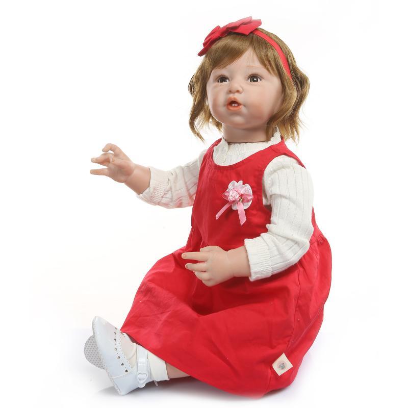 80cm de silicona de vinilo Reborn Baby Doll bebés realista muñeco de bebé Reborn s juguete ropa modelo niñas Brinquedos - 5