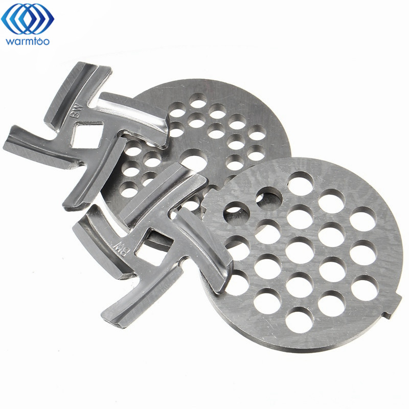 Household Stainless Steel Meat Grinder Blade Spare Part 2 Pcs Meat Chopper + 2 Pcs Cutter Blade For MG30/60 Kitchen gezi electric meat grinder meat cutter parts stainless steel blade matching meat cutter suits for jr1 jr2 jr3 jr5 jr6 grinder