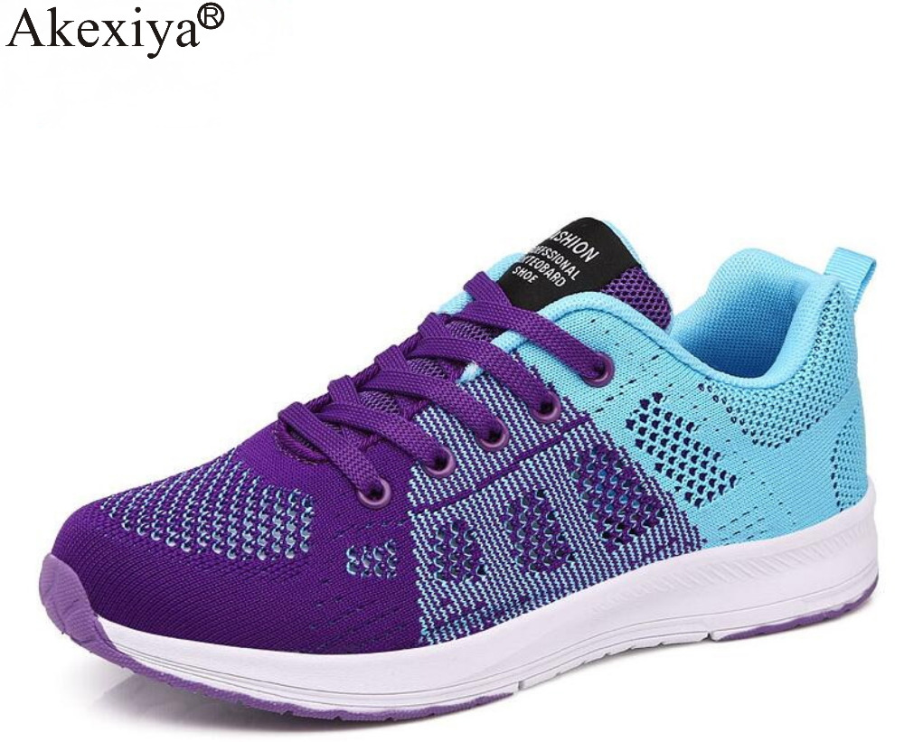 Akexiya Air Mesh High Quality Breathable Sneakers Summer Autumn Athletic Outdoor Sports Entertainment Shoes Women Running Shoes akexiya 2018 sport shoes woman sneakers red ladies running shoes air cushion outdoor athletic female shoes sports basket femme