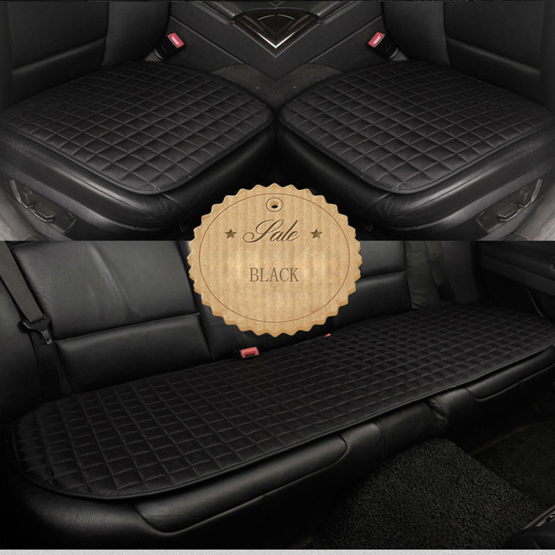 Universal Car Seat Cover Cushion Cotton & Linen Nonslip Fabric Auto Seat Covers Car Seat Protector Car-Styling Accessories