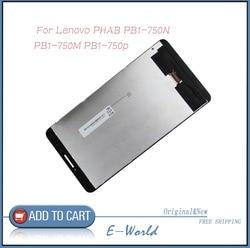 Oryginalny 6.8 cal ekran LCD z ekranem dotykowym montaż dla Lenovo PHAB 6.98 PB1 750N PB1 750M PB1 750P PB1 750 darmowa wysyłka w Ekrany LCD i panele do tabletów od Komputer i biuro na