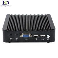 Fanless pc Aluminum Case Intel Celeron J1900 Quad Core mini pc, 4 LAN VGA,USB port,HTPC