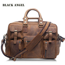 Luxury Men Handbag Cowhide Genuine Leather Briefcase Laptop Bag Shoulder Messenger Bags Men Travel Bags