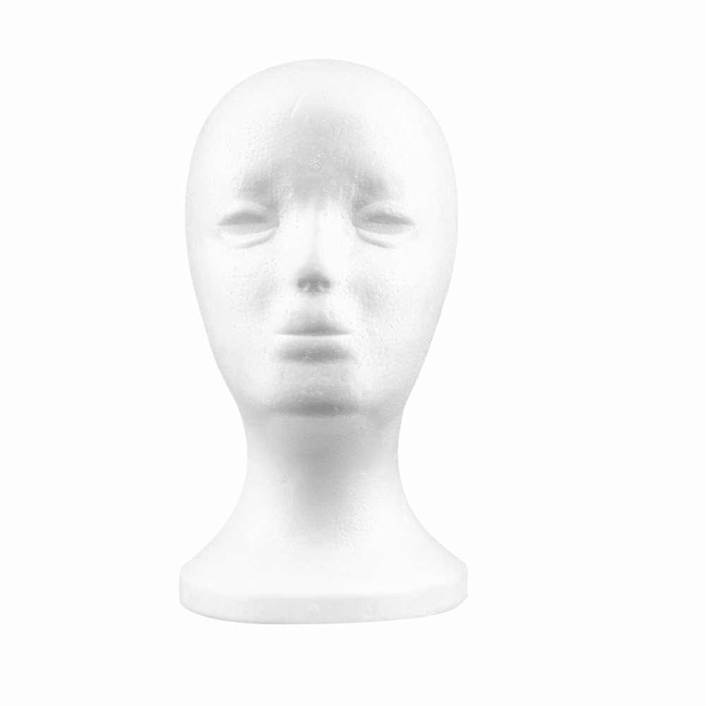 1 Pc 耐久性のあるホワイト女性発泡スチロールマネキンマネキン頭部モデル泡毛メガネディスプレイメガネ帽子ディスプレイスタンド