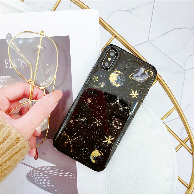 LOVECOM Epoxy Phone Case For iPhone 11 Pro Max XR XS Max X 5 5S 6