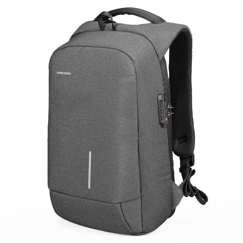 Kingsons Men's Laptop Backpack External Usb Charging with Customs Anti-theft Lock Backpack Bookbag Supreme Bag Travel Backpack недорго, оригинальная цена
