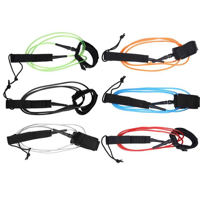 1 PC 5.5 Mm Olahraga Air Papan Selancar Tali 6ft Dayung Papan Tali dengan Hook dan Loop Penutupan untuk Pantai Berselancar kolam 5 Warna