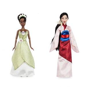 Image 5 - Negozio genuino Disney Rapunzel Jasmine Principessa Bambola mulan Ariel Belle giocattoli Per i bambini regalo di Natale