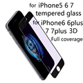 Para el iphone6 en el cristal para el iphone6 6 plus 7 además de 7 pantalla de protección de vidrio templado de vidrio de fibra de carbono 3d curvada borde