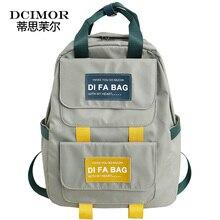 DCIMOR Large Capacity Backpacks Waterproof nylon Ring portable backpack  School bag for Teenage Girls Mochila Female Daypack