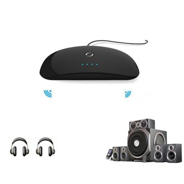 Novo efeito de Som Sem Fio Bluetooth Transmissor de Áudio Estéreo Música Adaptador Receptor Transmissão DSP DigitalSoundFieldProcessing