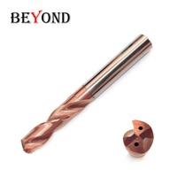 HRC60 Diameter 6.1-8.0mm Twist Drill Tungsten Steel Bit High Cooling Hole Universal Five-Fold Diameter Solid Carbide Drill
