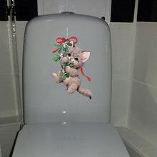 YOJA 13.3*22.9 cm Engraçado Bonito Gato Home Da Parede Da Sala Decor Decal Criativo Etiqueta Wc T1-0166