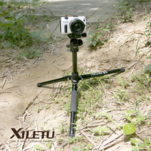 Cheapest prices Free Shipping XILETU LM225+T-0 Portable Travel Tripod&Ball Head and Folded Length 265mm For Digital Mirrorless Camera