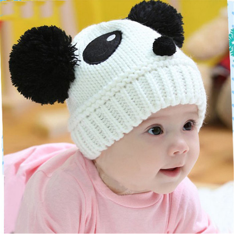 60573578ff757 1PC Fashion Baby Girls Boys Hats Warm Winter Chinese Panda Style Knit Wool  Kids Caps For Children Clothes Accessories  20