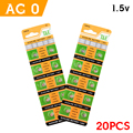 Sale 20 X AG0 LR69 379A SR521 for men ladies children watches ALKALINE COIN CELL WATCH BATTERIES 1.55V,5.8*2.1
